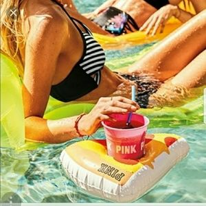 PINK pizza float cup holder